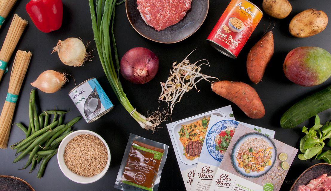 De ingrediënten uit de maaltijdbox van Ekomenu onze ervaring