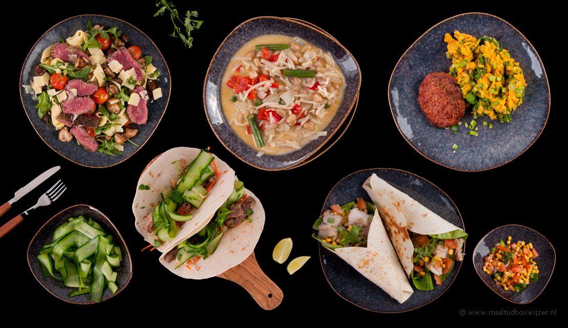 Keuze uit vele gerechten in je maaltijdbox