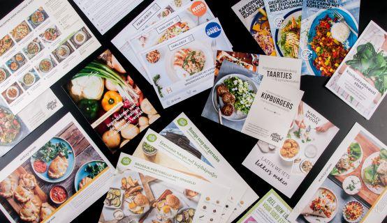 Receptkaarten van veel verschillende maaltijdboxen