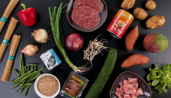 De ingrediënten van de Ekomenu maaltijdbox
