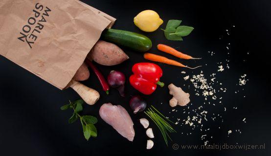 Marley Spoon maaltijdbox zak met ingrediënten