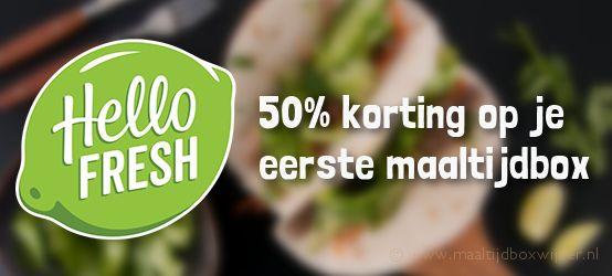 Korting van 50% op HelloFresh