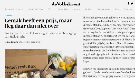 Column Volkskrant 2015 maaltijdboxen