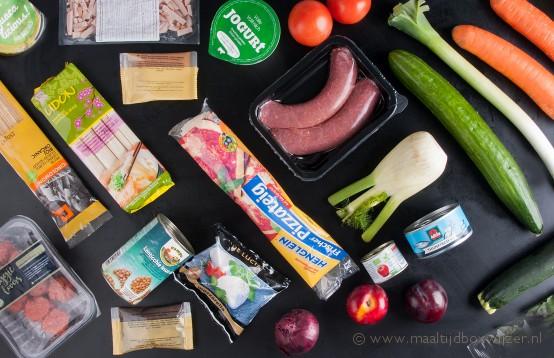 Inhoud van de Dinnerly maaltijdbox