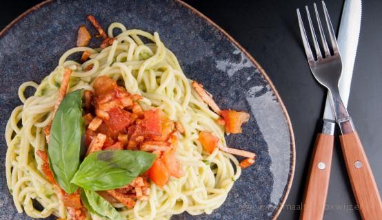 Een lekkere maaltijd van Dinnerly met spaghetti